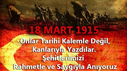 18 Mart 1915 Çanakkale Zaferi ve Şehitleri Anma Günü